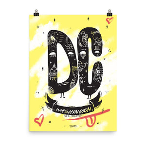 "DC Hustle Print (18"" x 24"") by Kelly Towles"