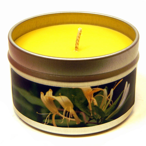 Honeysuckle Jasmine, 4oz Soy Candle Tin - Candeo Candle - 2