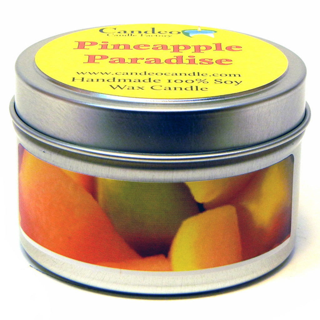 Pineapple Paradise, 4oz Soy Candle Tin - Candeo Candle