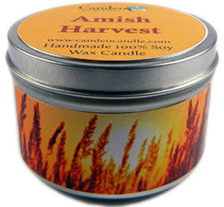 Amish Harvest, 6oz Soy Candle Tin - Candeo Candle