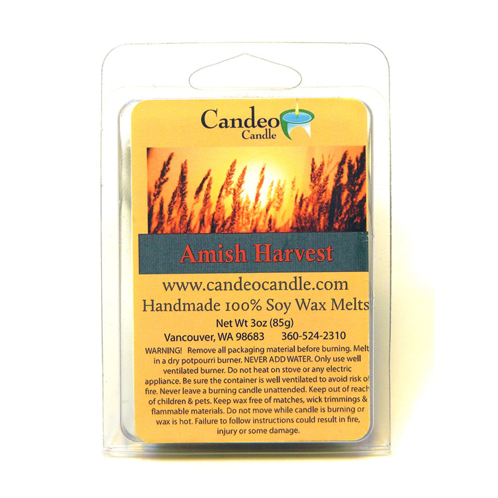 Amish Harvest, Soy Melt Cubes - Candeo Candle