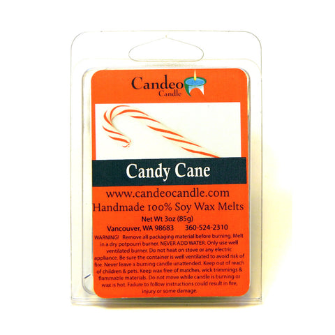 Candy Cane, Soy Melt Cubes - Candeo Candle