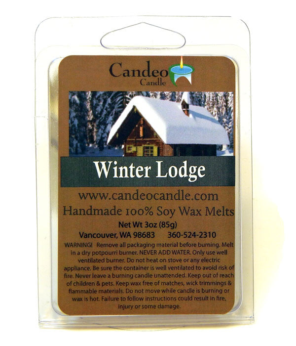 Winter Lodge, Soy Melt Cubes - Candeo Candle