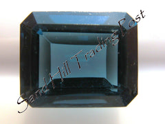 Emerald Cut London Blue Topaz AAA