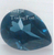 Pear Cut London Blue Topaz AAA