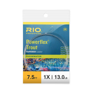 RIO 7.5ft Powerflex Trout Leaders - 1X