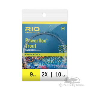 RIO 9ft Powerflex Trout Leaders - 2X
