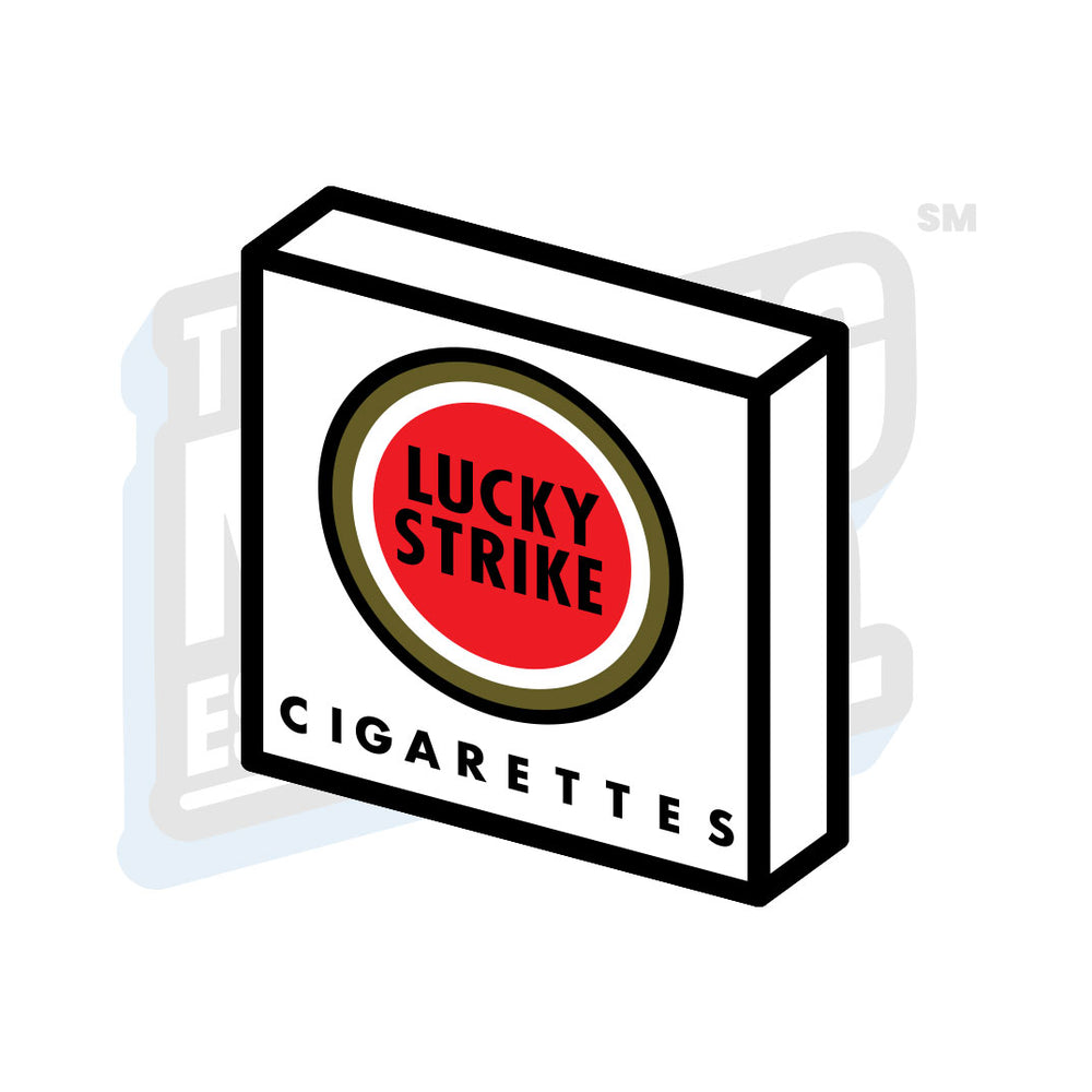 Custom Printed Lego - Lucky Strike Cig Tile - The Minifig Co.