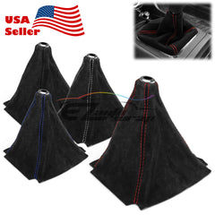 Genuine Real Leather Shifter Boot Cover Black (with 4 color of stitches)