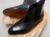 Carmina Shoemaker Chelsea Boots in Black Calf