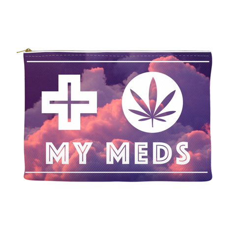My Meds Pouch - Clouds