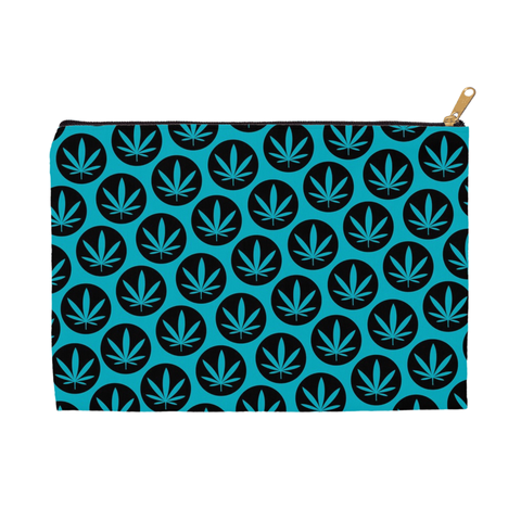 Leaf Pouch - Teal and Back