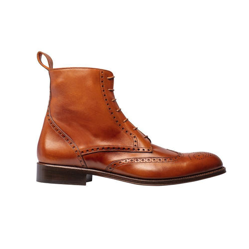 The Spanish Boot Company Leather boots Eur 41/UK 7.5 Mens Brogue Boots: tan