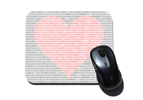 Binary Heart - mouse pad for geeks, nerds and scientists