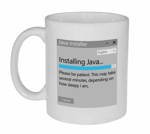 Java Installer Coffee or Tea Mug