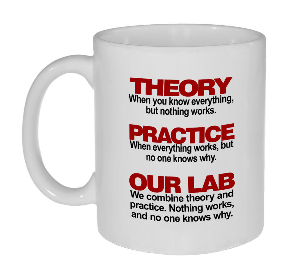 Theory and Practice Coffee or Tea Mug - 11oz