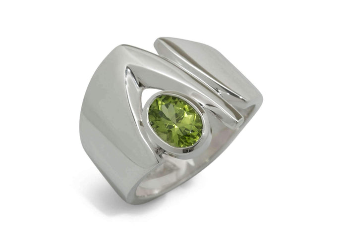 Classic Gemstone Ring, Sterling Silver