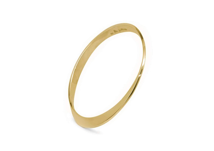 Mobius Twist Bangle, Yellow Gold