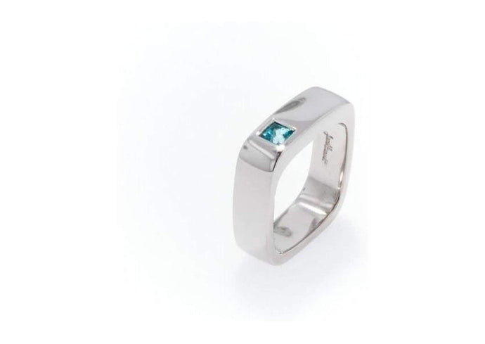 Palladium & Blue Topaz Ring   - Jens Hansen