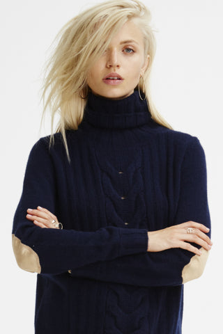 Speakeasy Cable Sweater | Navy - Banjo & Matilda | International  - 2