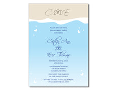 Abstract Beach/ Ocean Modern Invitation