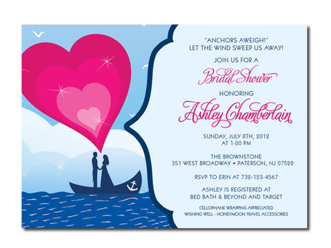 Nautical Themed Bridal Shower Invitations