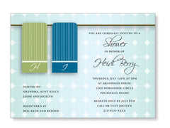 Bridal Shower Towel Invitations