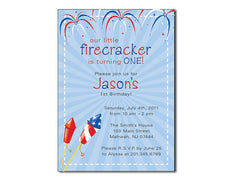 Firecracker Birthday Invitations