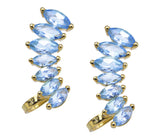Blue Topaz Plume Ear Cuff