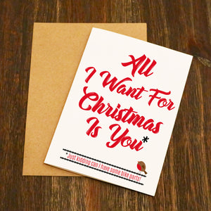 All I Want For Christmas Is You - Cycling Christmas Card