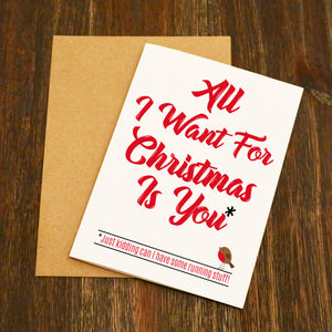All I Want For Christmas Is You - Running Christmas Card