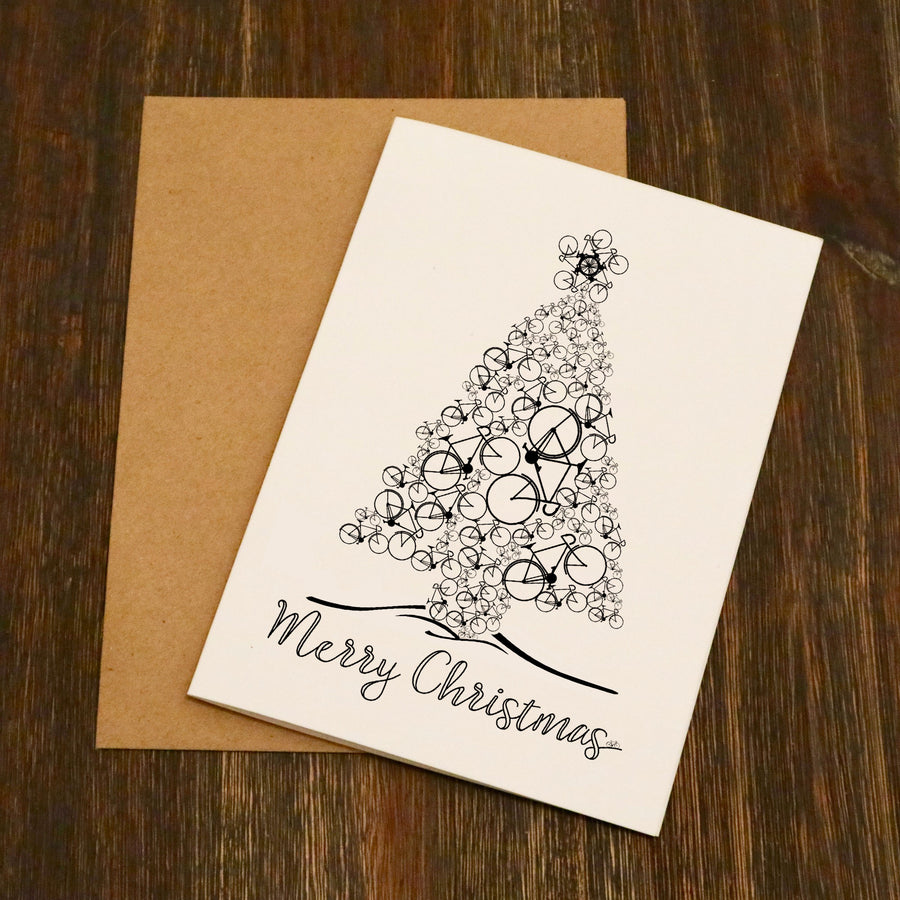 The Bike Tree - Cycling Christmas Card (Multipack-Available)