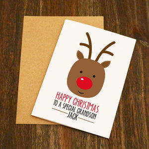 Happy Christmas Grandson / Daughter Personalised Christmas Card