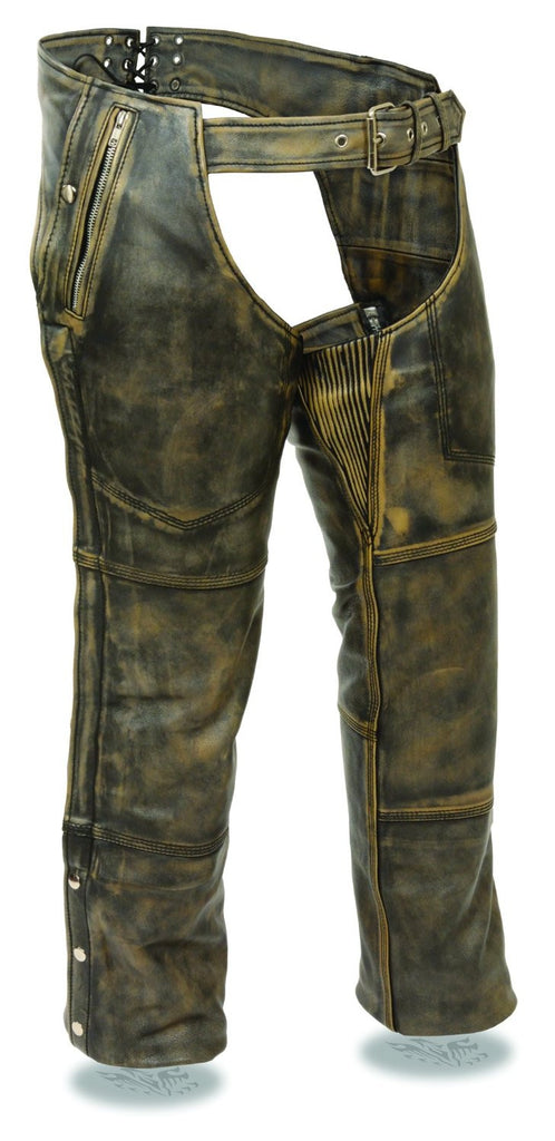 Milwaukee Men's Distressed 4 Pocket Thermal Liner Chaps