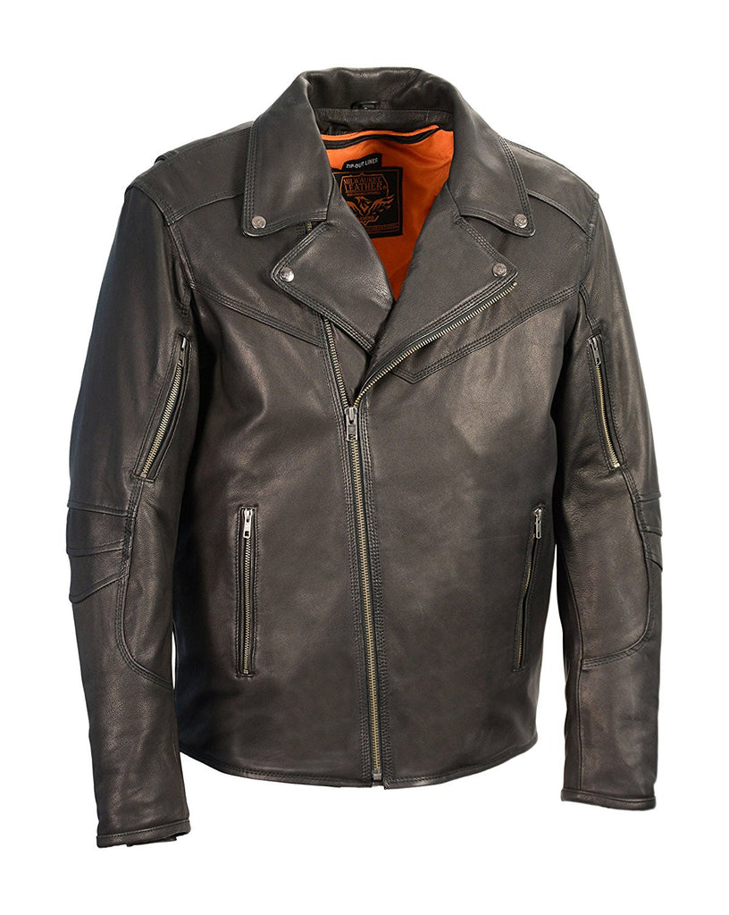 Milwaukee Leather Men's Vented Updated Motorcycle Jacket