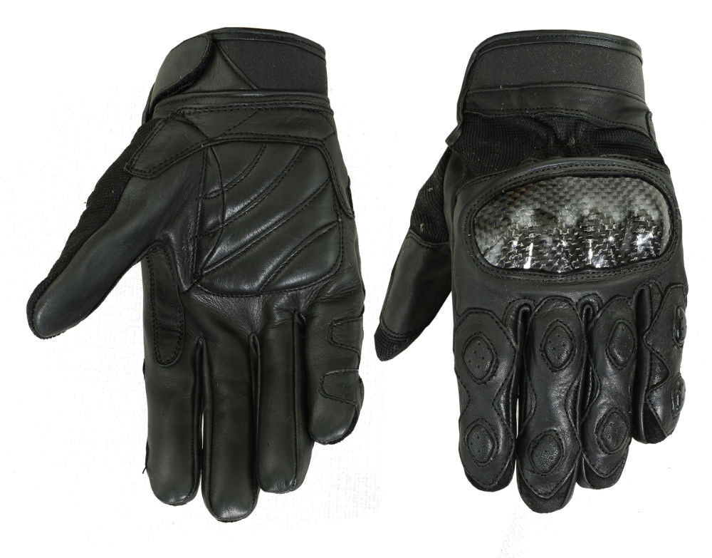 Men's Leather/ Textile Sporty Glove - Maine-Line Leather