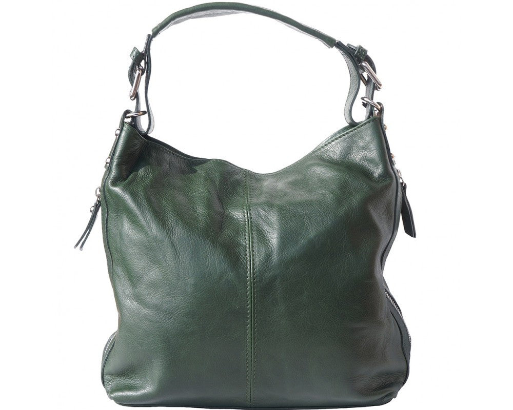 Hobo bag with Removable Handle and Strap Multi Colors - Maine-Line Leather - 1