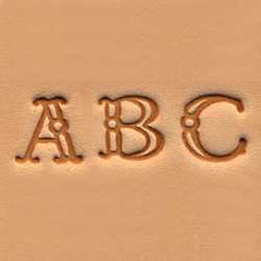 "Alphabet Stamp Set 3/8"" (1 cm) Fancy - Maine-Line Leather"