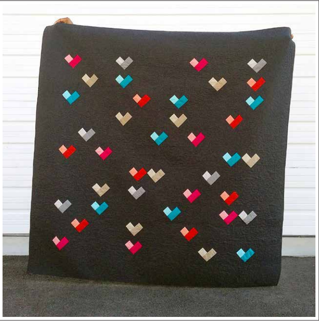 Free Quilt Pattern - Digital Hearts Quilt