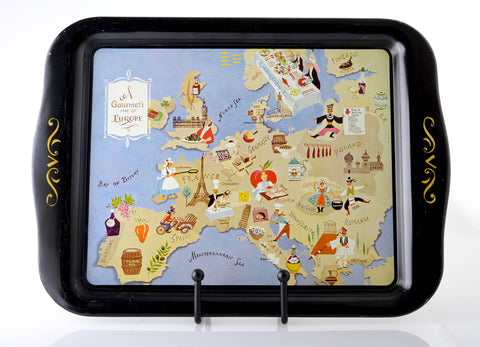 Gourmet Guide to Europe Tole Tray