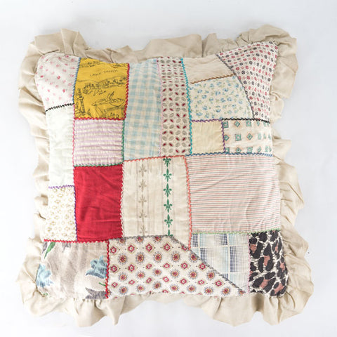 Patchwork Pillow from the 1940s
