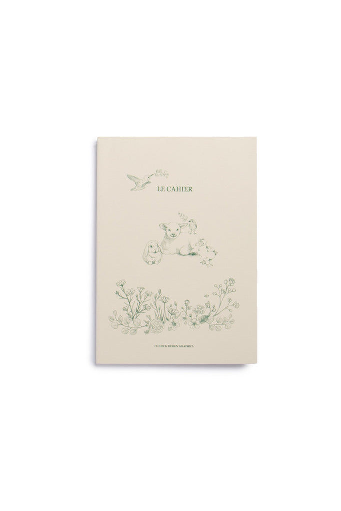 O-CHECK DESIGN GRAPHICS - CAHIER NOTEBOOK - RULED - MEDIUM - ANIMALS WITH FLOWERS - Pens...Paper...Ink