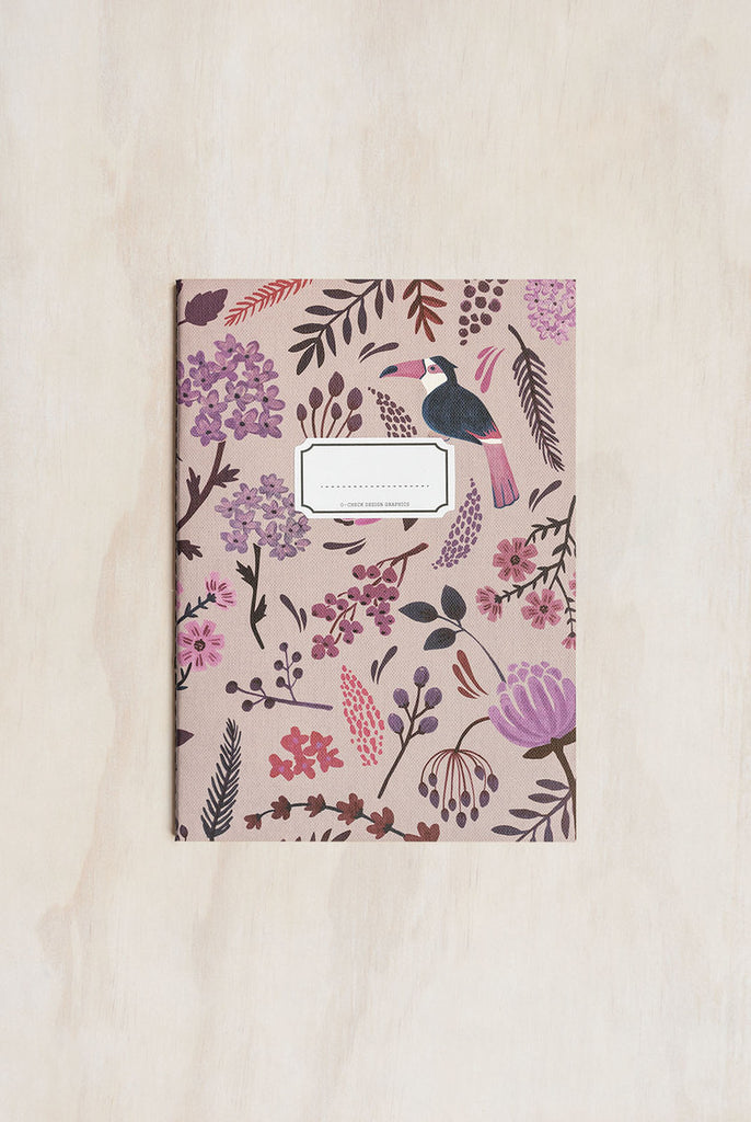 O-CHECK DESIGN GRAPHICS - CAHIER NOTEBOOK - RULED - MEDIUM - GARDEN PINK - Pens...Paper...Ink