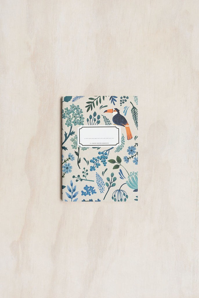 O-CHECK DESIGN GRAPHICS - CAHIER NOTEBOOK - RULED - SMALL - GARDEN BLUE - Pens...Paper...Ink