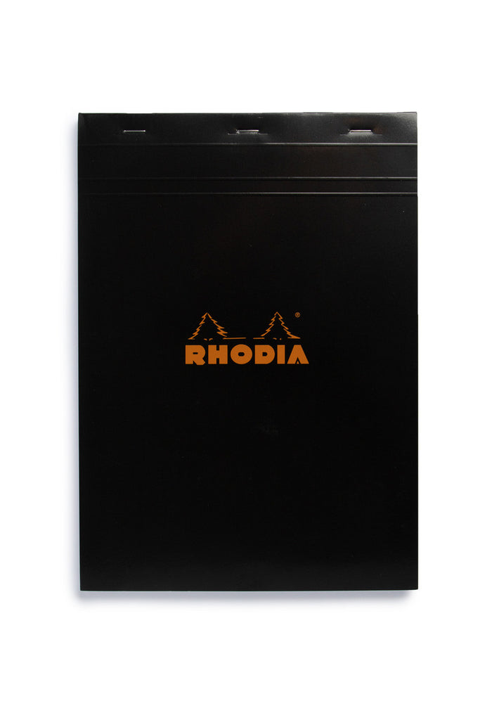RHODIA - PAD #18 - TOP STAPLED - 5X5 GRID - A4 - BLACK - Pens...Paper...Ink