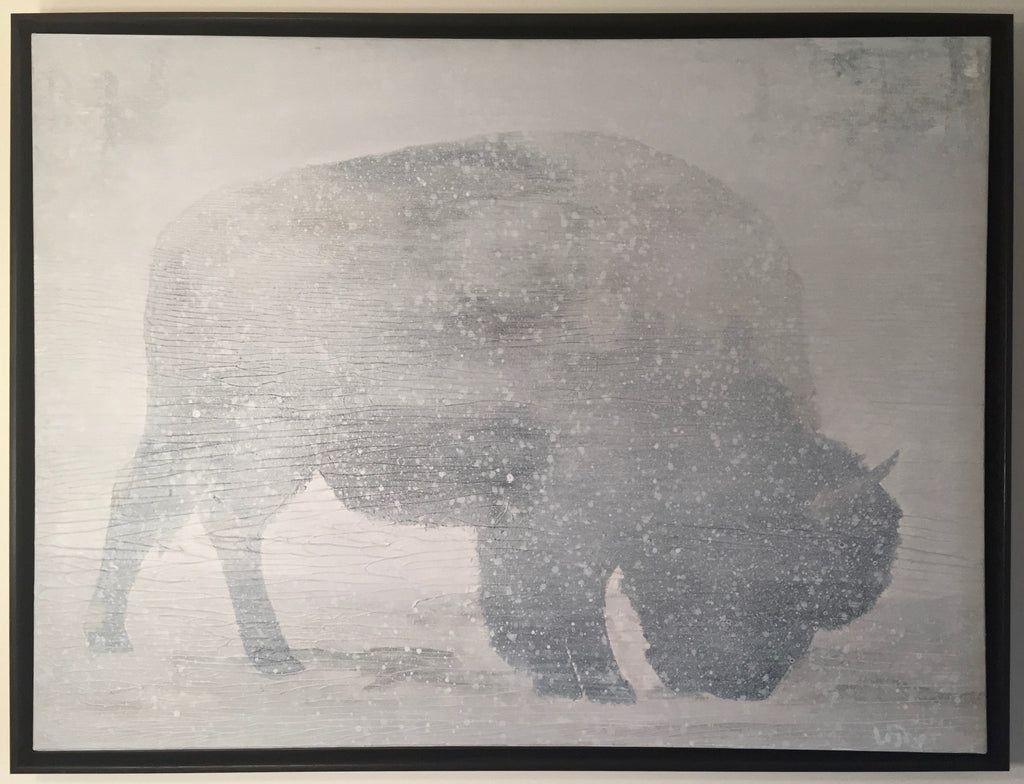 """Father Buffalo""-Framed-SOLD"