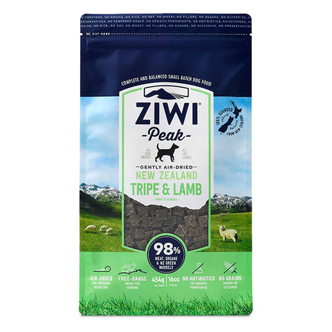 Ziwi Peak - Daily Dog Air Dried Tripe & Lamb - 454g pouch