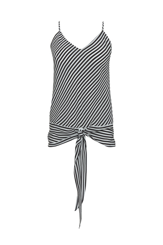 The Mini Stripe Camisole in black.