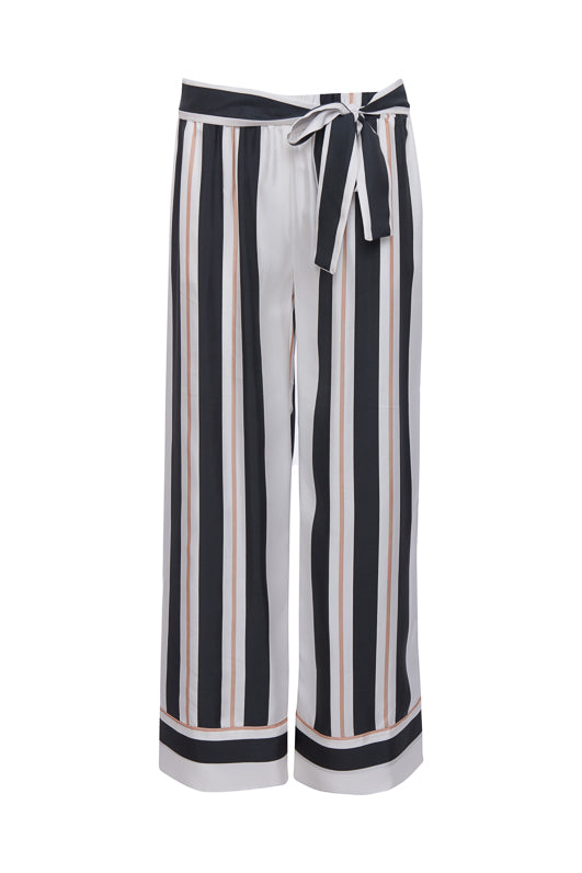The Bold Stripe Pant in black.