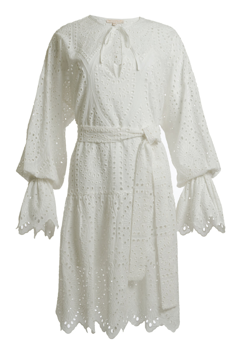 The Adele Cotton Dress in white.